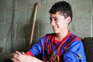 Cristian ha sido un ejemplo para sus hermanos Kevin y Emilson.