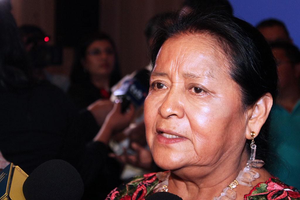 Otilia Lux, del Caucus Global de Mujeres Indígenas.