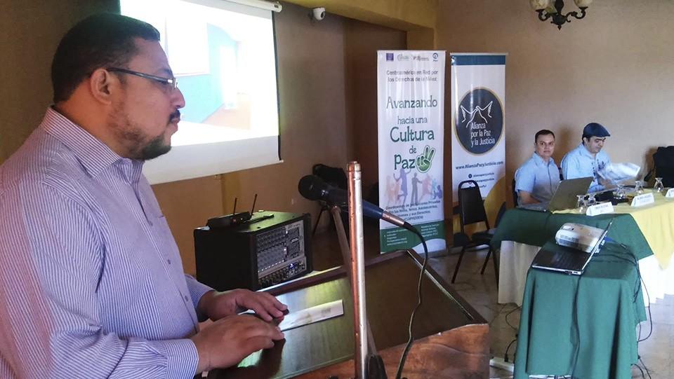 Omar Rivera, coordinador de la APJ, durante uno de los eventos.