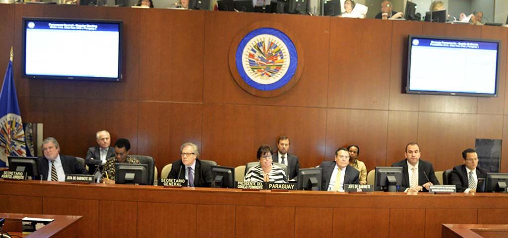 Autoridades de la Organización de Estados Americanos (OEA).
