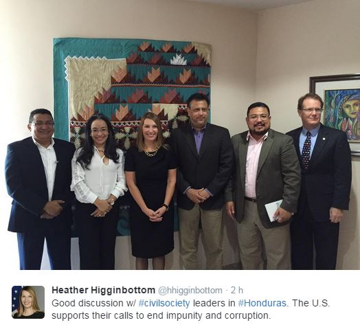 Publicación de Heather Higginbottom en Twitter.