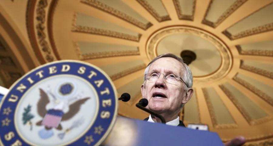 Senador Harry Reid, líder demócrata del Senado de EE UU. (Foto cortesía voanews.com)