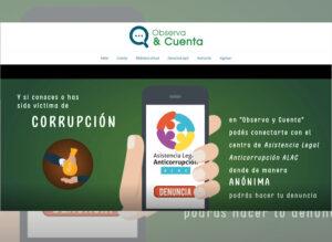 Observa y Cuenta, un espacio para unirnos contra la corrupción