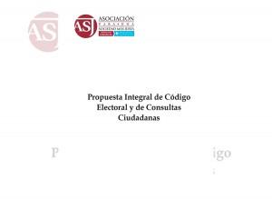 Propuesta de Código Electoral y de Consultas Ciudadanas