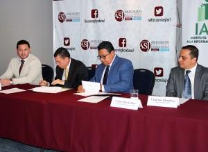 ASJ e IAIP firman convenio de colaboración para promover la transparencia